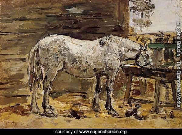 A Horse Drinking, c.1885-90