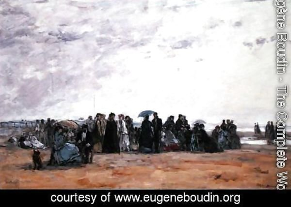 Eugène Boudin - A seaside watering place, 1867