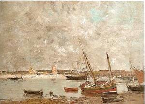 Eugène Boudin - Camoret, the harbor 1876
