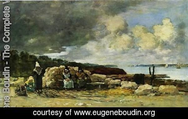 Eugène Boudin - Fisherwomen at Brest