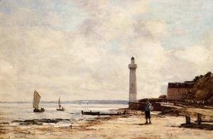 Eugène Boudin - Lighthouse at Honfleur 1864-66