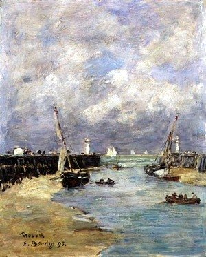 Eugène Boudin - Low Tide at Trouville 1895