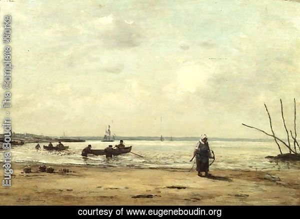 Low Tide Near Honfleur c.1864-66