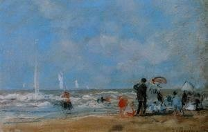 Eugène Boudin - On the Beach 1863