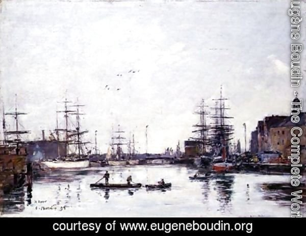 Eugène Boudin - The Basin of the Barre, Le Havre 1895