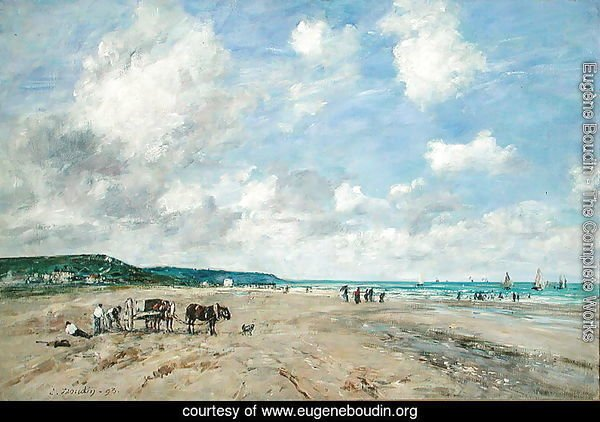 The Beach at Tourgeville 1893