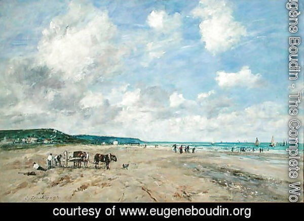 Eugène Boudin - The Beach at Tourgeville 1893
