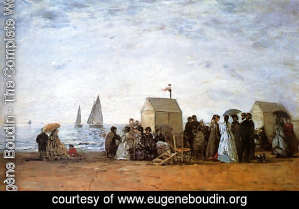 Eugène Boudin - The Beach at Trouville 1867