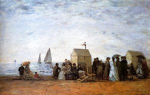The Beach at Trouville 1867