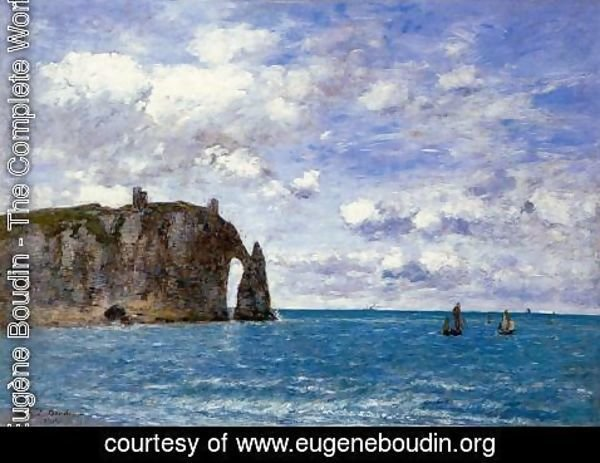 Eugène Boudin - The Cliffs at Etretat 1890