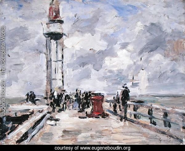 The Jetty and Lighthouse at Honfleur c.1885-90