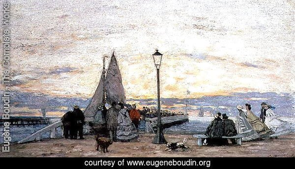 The Jetty at Trouville- Sunset 1864