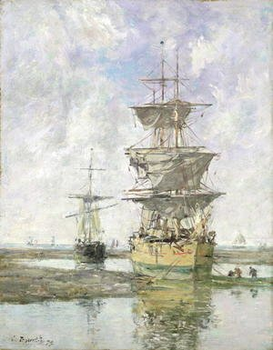 Eugène Boudin - The Large Ship 1879