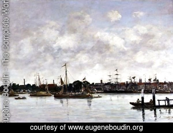 Eugène Boudin - The Meuse at Dordrecht 1874