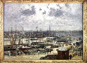 Eugène Boudin - The Port of Bordeaux 1874