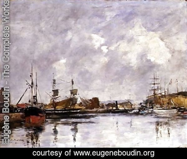 Eugène Boudin - The Port of Dunkirk 1891
