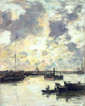 Eugène Boudin - The Port c.1895