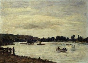Eugène Boudin - The Seine near Rouen 1895