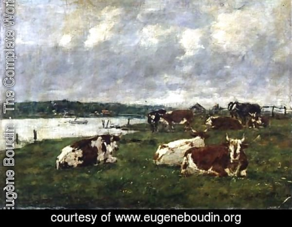 Eugène Boudin - The Valley of the Touques 1887
