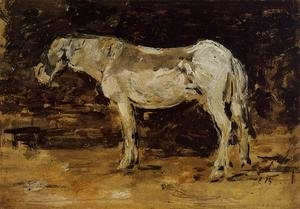 Eugène Boudin - The White Horse c.1885-90