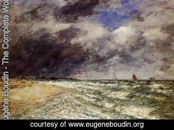 Eugène Boudin - A Squall from Northwest