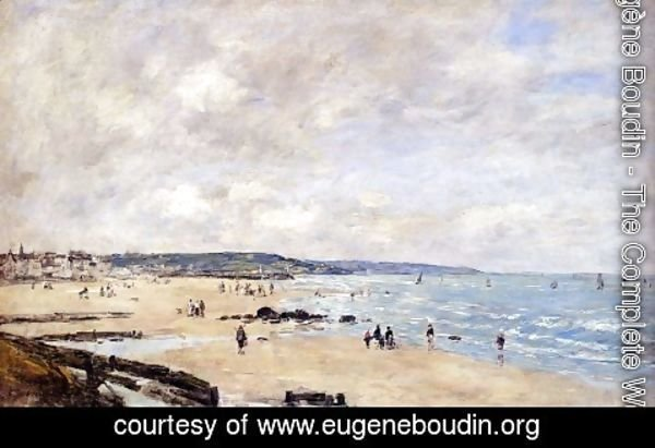 Eugène Boudin - Beach at Trouville