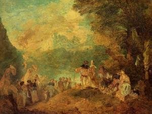 Eugène Boudin - The Pilgrimage to Cythera (after Watteau)