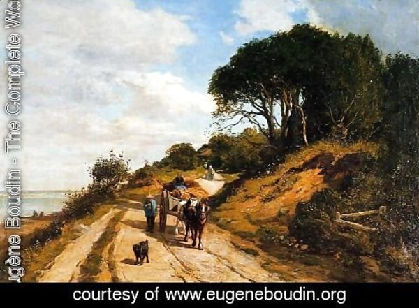 Eugène Boudin - The Road from Trouville to Honfleur