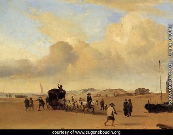 The Beach at Scheveningen (after Adriaen van de Valde)