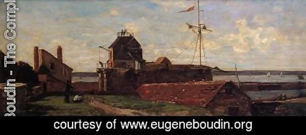 Eugène Boudin - Le Havre, the Frencois I Tower
