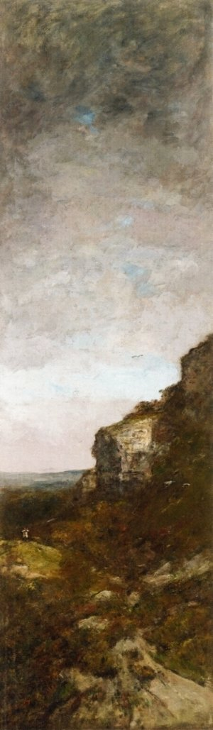 Eugène Boudin - The Hunt for Partridge on the Cliff