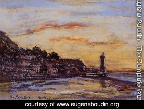 Eugène Boudin - The Honfleur Lighthouse