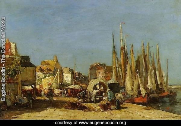 Honfleur, the Quarantine Dock and the Cattle Market