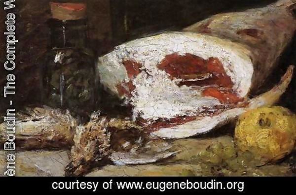 Eugène Boudin - Still Life with a Leg of Lamb
