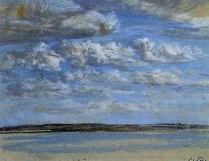Eugène Boudin - White Clouds, Blue Sky