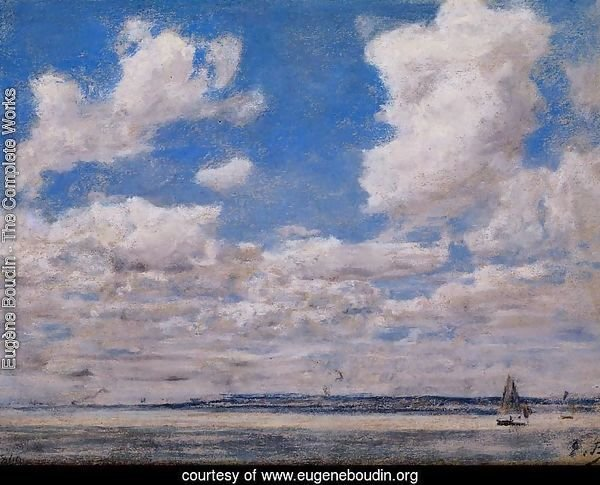 Seascape with Large Sky