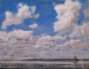 Eugène Boudin - Seascape with Large Sky