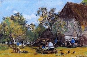 Eugène Boudin - The Saint-Simeon Farm
