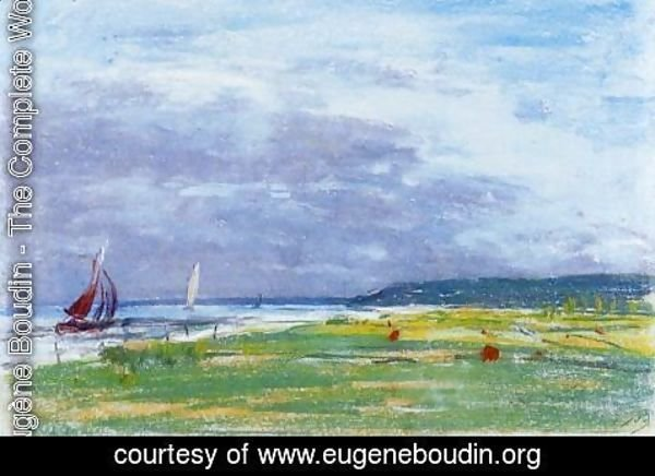 Eugène Boudin - The Seashore
