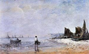 Eugène Boudin - The Fisherman, Low Tide
