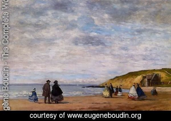 Eugène Boudin - A Walk on the Beach