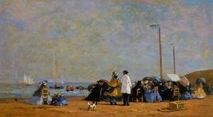 Eugène Boudin - Crinolines on the Beach I
