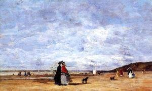 Eugène Boudin - Elegant Women on the Beach