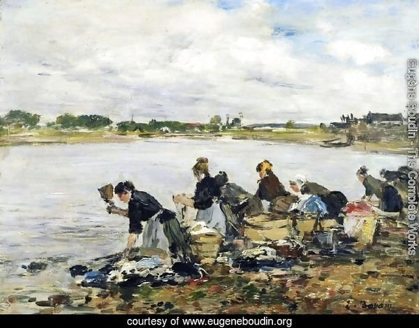 Laundresses on the Banks of the Touques