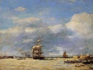 Eugène Boudin - Entering the Port of Havre