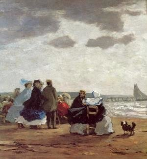 Eugène Boudin - On the Beach, Dieppe