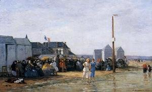 Eugène Boudin - Trouville, Bathing Hour