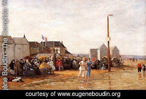 Eugène Boudin - The Bathing Hour at Trouville