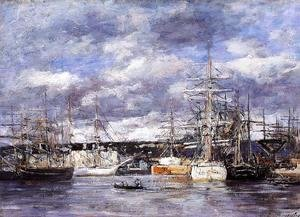 Eugène Boudin - The Vauban Basin at Havre