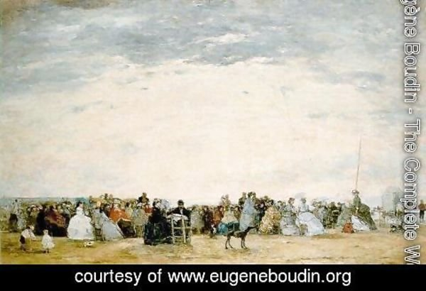 Eugène Boudin - The Beach at Trouville